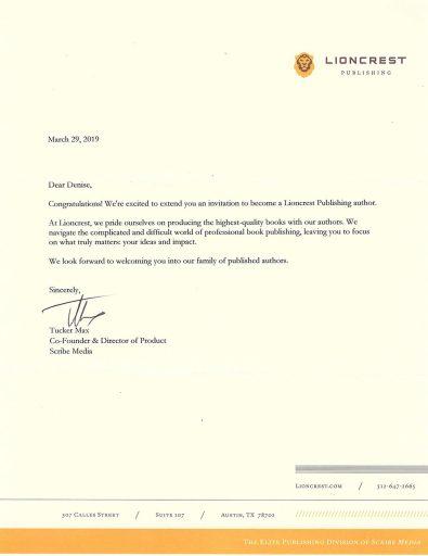 Lioncrest Letter